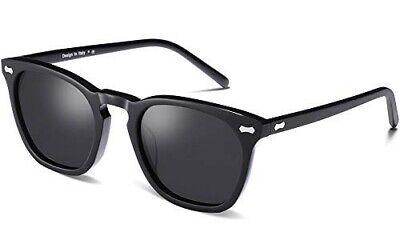 Carfia Vintage polarisierte Sonnenbrille für Damen / Herren UV400 Italien