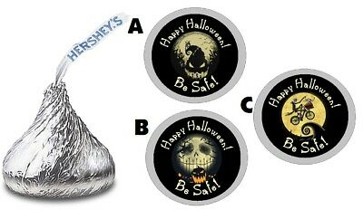 NIGHTMARE BEFORE CHRISTMAS HALLOWEEN HERSHEY KISS LABELS STICKERS PARTY FAVORS - Halloween Hershey