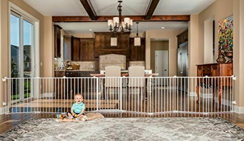 """Regalo 192"""" Wide 4-in-1 Adjustable Baby Gate - White"""