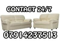 3&2 or Corner Leather Sofa Range Cash On Delivery 56757