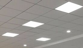 48W LED 600x600 Ceiling Grid Recessed Slim Panel Light Office White Trim+Driver