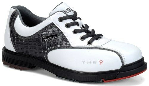 Dexter The 9 White/Crocodile Mens Interchangeable Bowling Shoes Size 7.5