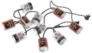 Harley Davidson Oil Can Party Lights (New)