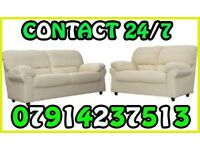 THIS WEEK SPECIAL OFFER LEATHER SOFA Range 3 & 2 or Corner Cash On Delivery 4534