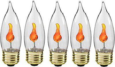 Creative Hobbies 10J Flicker Flame Light Bulb -Flame Shaped, Standard Base,
