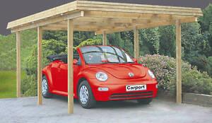 Carport Richie 300x500 cm Einzelcarport Garage Holz Unterstand Flachdach Neu
