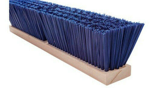 "Magnolia Brush #6424 24"" Blue Polystyrene Heavy Gauge Street Push Broom Head"