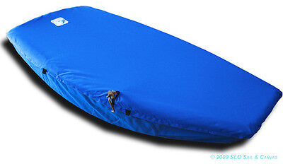Naples Sabot Sailboat - Boat Deck Cover Blue Sunbrella Top Cover