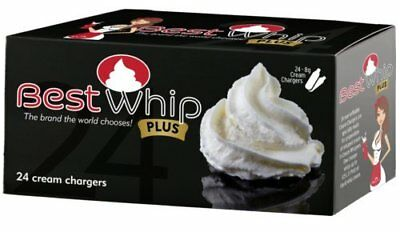 Best Whip PLUS 120 (5x24) N2O 8g size whip cream charger - 5 boxes of 24