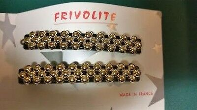 Vintage French Hair Barrette.1950's.New.Per pair](1950's Hair)