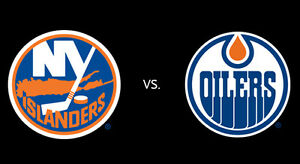 Edmonton Oilers vs New York Islanders 2 tickets sold out game Edmonton Edmonton Area image 1