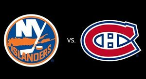 February 23rd Canadiens vs NY Islanders in REDS!!!