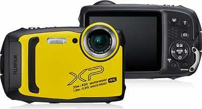 Fujifilm Fotocamera Subacquea Digitale 16.4 Mpx Video 4K Giallo XP140 FinePix