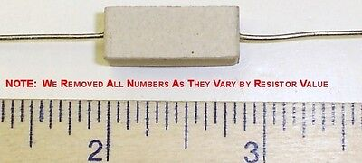 10 X .47 Ohm 5 Watt 5 Wire Wound Cermet Sandblock Resistor Free Us Shipper
