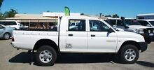 2002 Mitsubishi Triton MK MY02 GLX Double Cab White 5 Speed Manual Utility Bellevue Swan Area Preview