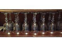 Beautiful set of wine glasses