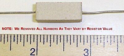 5 X 25 Ohm 5 Watt 5 Wire Wound Cermet Sandblock Resistor Free Us Shipper