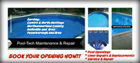 BOOK YOUR POOL OPENING/REPAIR/LINER REPLACEMENT NOW!