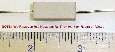 5 X .22 Ohm 5 Watt 5 Wire Wound Cermet Sandblock Resistor Free Us Shipper