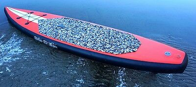 "New 12' 6"" Stand Up Paddleboard -  6"" Board Inflatable SUP Paddle Package Red"