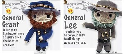 Kamibashi General Lee and Grant Original String Doll Gang Keychain Toy Set