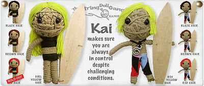 Kamibashi Kai the Surfer Girl The Original String Doll Gang Keychain Clip