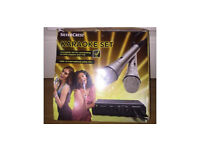 Silver crest karaoke set connects to DVD players and TVs