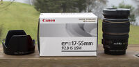 Canon EFS 17-55mm, f2.8, IS, USM