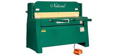 National 4 Hydraulic Sheet Metal Shear 14 Capacity