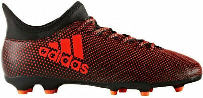 Adidas Junior X17.3 Firm Ground J Soccer Cleats Football Boots Black / Red / Ora