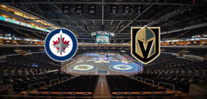 Jets vs golden knights pair of tickets for game 5