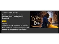 4 x beauty and the beast theatre tickets