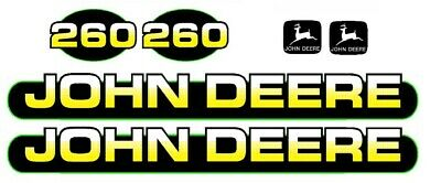 John Deere 260 Skid Steer Loader Equipment Decals Stickers Emblem Tracks
