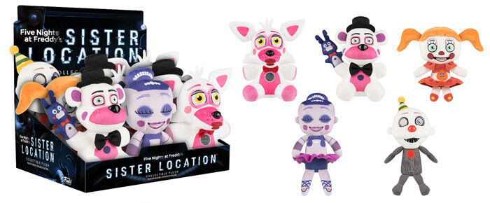 Funko SISTER LOCATION PLUSH ENNARD FUNTIME FREDDY BABY BALLORA FUNTIME FOXY NEW