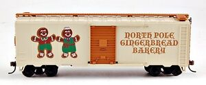 Bachmann-HO-Scale-Train-Christmas-Box-Car-North-Pole-Gingerbread-Bakery