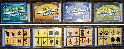 Stamping Animal Tracks Tropical Forest Ocean Grassland Desert Rubber Stamps (Animal Tracks Rubber Stamps)