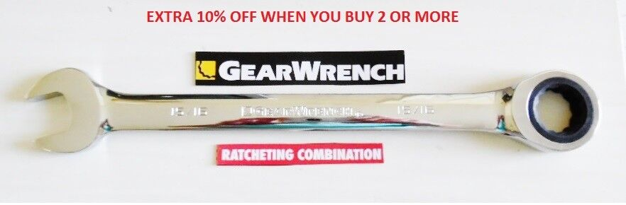 Gearwrench Flat Ratcheting Wrench -  SAE or Metric Combinati