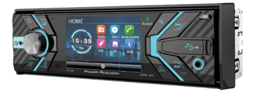 "POWER ACOUSTIK PD-348B SINGLE DIN CAR DVD CD PLAYER BLUETOOTH RECEIVER 3.4"" LCD"