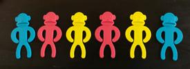 Sock monkeys set of 6
