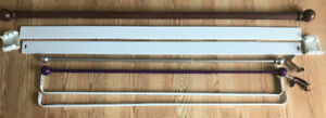 **VARIOUS STYLES & SIZES OF CURTAIN RODS FOR SALE**