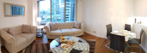 New Furnished 1 Bedroom + den in luxury high rise in 1288 West G