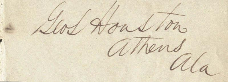 GEORGE SMITH HOUSTON - SIGNATURE(S)