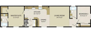 Brand new manufactured home for under $125k! The Burkley.