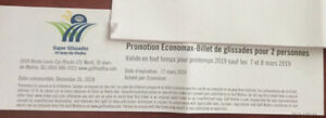 Ski ticket for 2 persons (st jean de matha)