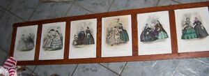 Super long   1860's  Prints in Victorian Frame