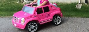 pink cadilac car