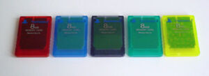 Playstation 2 ( PS2 ) Genuine Memory Cards