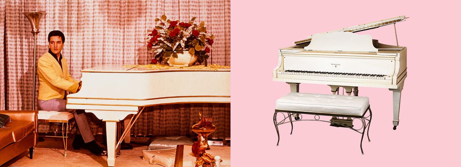 Bid on Elvis's piano to support the Starkey Foundation.