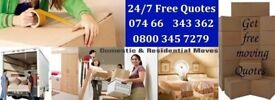 24/7 LAST MINUTE HOUSE/FLAT REMOVALS PACKERS STORAGE URGENT FAST SAME DAY MOVERS DELIVERY LONDON