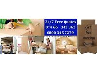 24/7 LAST MINUTE MOVING & PACKING SERVICE/STORAGE CENTRAL LONDON,URGENT,EMERGENCY,SAME DAY SERVICE